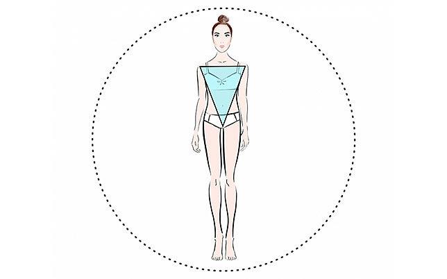Модели одежды для фигуры перевернутый треугольник