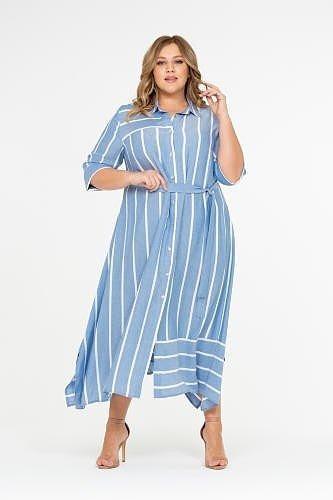 платье большого размера с горизонтальными полосами