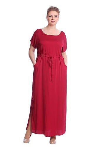 платье в пол яркого цвета на полную девушку