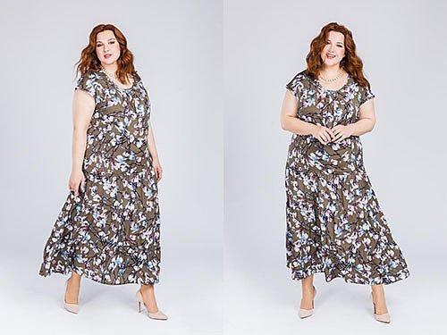 Фасоны платьев для полных женщин невысокого роста